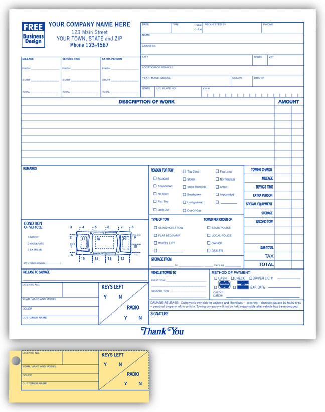 AnchorsideCom Carbonless Form Templates