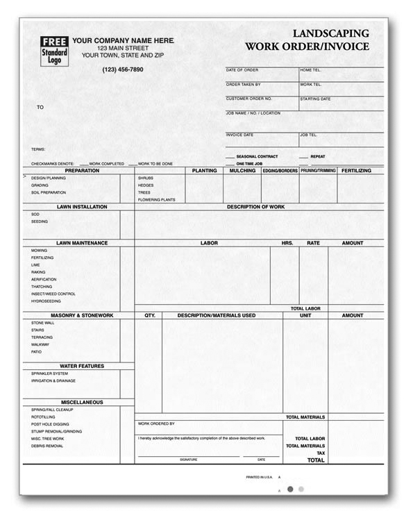 Anchorside Printing  Personalized Invoices