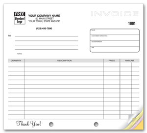 Custom Quote for Generic Multiple Use Invoice 8.5 x 11